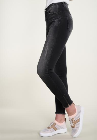 Spodnie jeans z poszarpanymi nogawkami oraz zamkami ROCKS JEANS