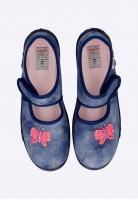 Pantofle dziewczęce w motylki SUPERFIT