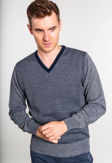 Sweter z wełny merino i...
