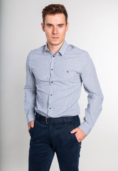 Bawełniana koszula w paski Trussardi Jeans