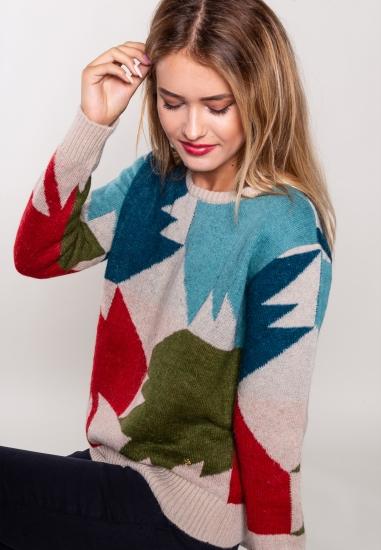 Wzorzysty sweter Trussardi...