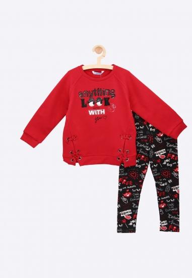 Komplet bluza + wzorzyste legginsy