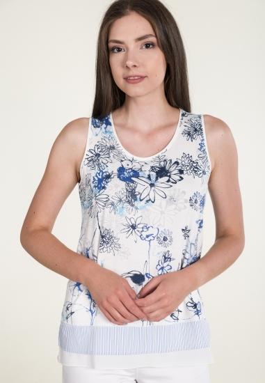 Wzorzysta bluzka na grubych ramiączkach GAIA