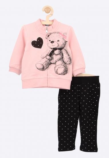 Komplet bluza + spodnie dresowe I Do - 0088213 ROZ-CZARNY
