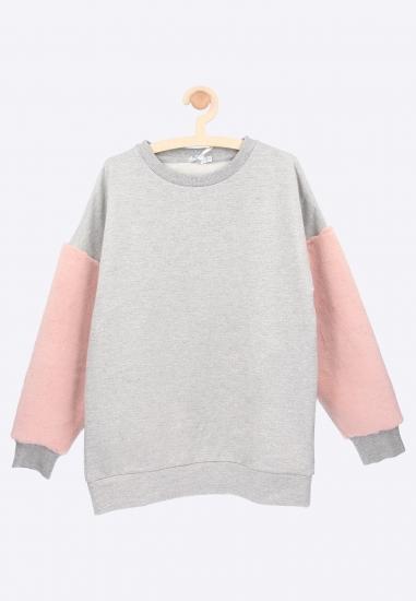 Bluza z futerkowymi rękawami Melby