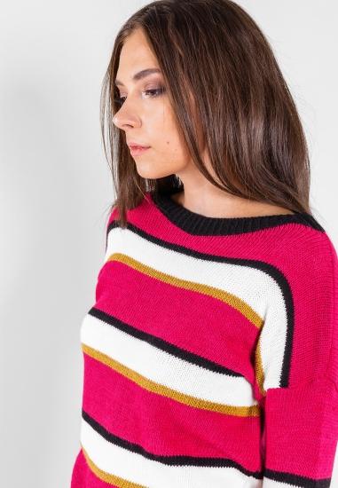 Kolorowy sweter Tu Per Tu -...