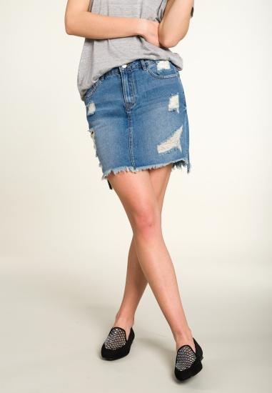 Jeansowa spódnica mini...