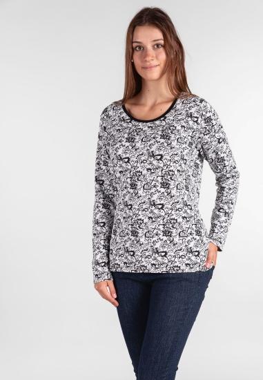 Cienki wzorzysty sweter Lea...