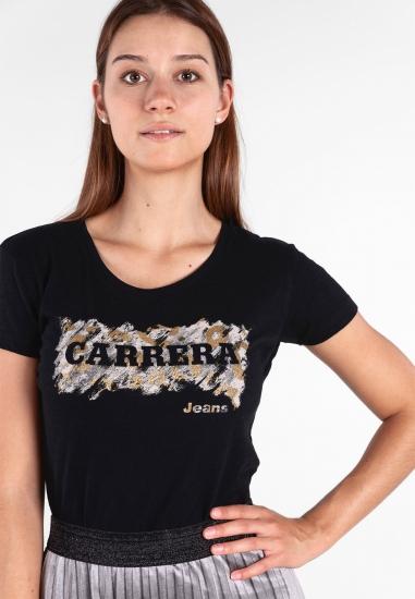 Koszulka z nadrukiem z bawełny Carrera Jeans