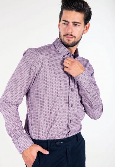 Wzorzysta koszula slim fit Bugatti
