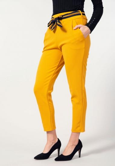 Spodnie cygaretki z paskiem...