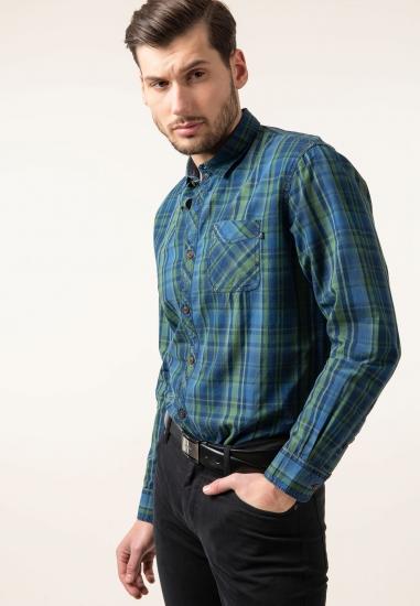 Koszula w kratkę z bawełny Pioneer