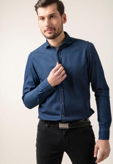 Denimowa koszula z bawełny slim fit Digel