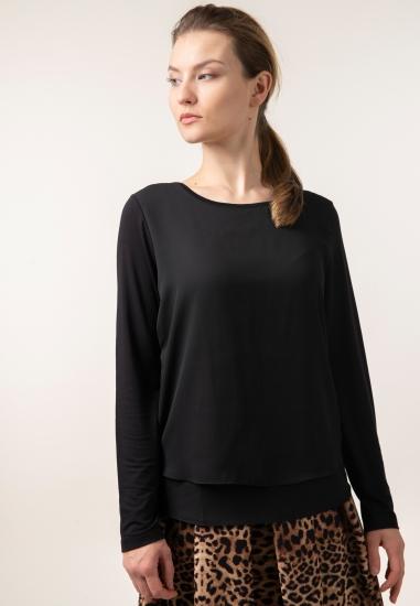 Warstwowa bluzka z łączonych tkanin Street One