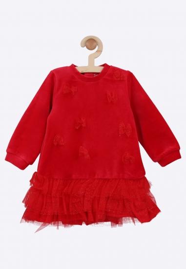 Aksamitna sukienka Melby -...