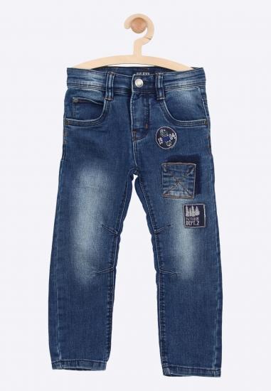 Spodnie jeansowe z nadrukiem Blue Seven