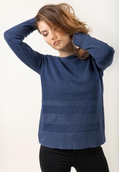 Sweter z domieszką wełny i...