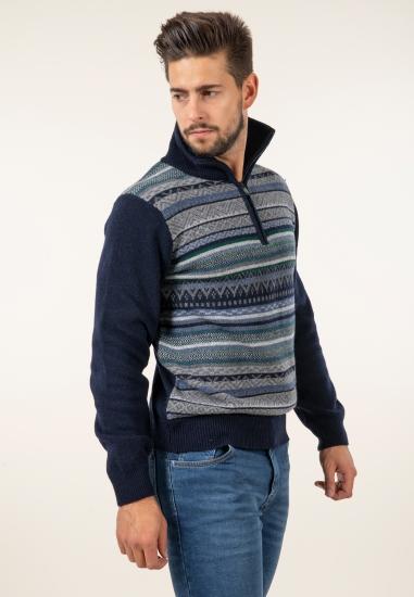 Wzorzysty sweter z...