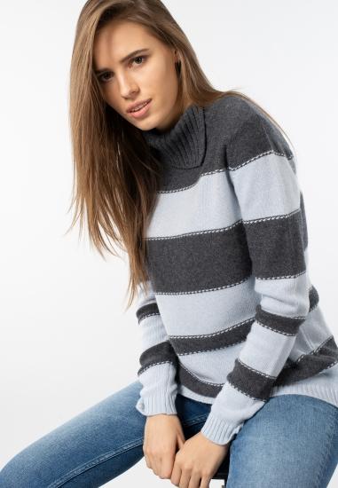 Sweter damski w paski Main&Land