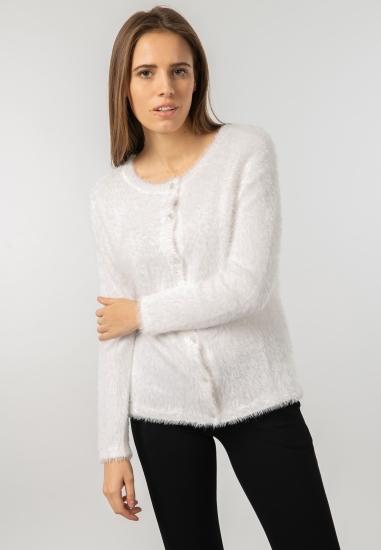 Rozpinany sweter z mechatej dzianiny Main&Land