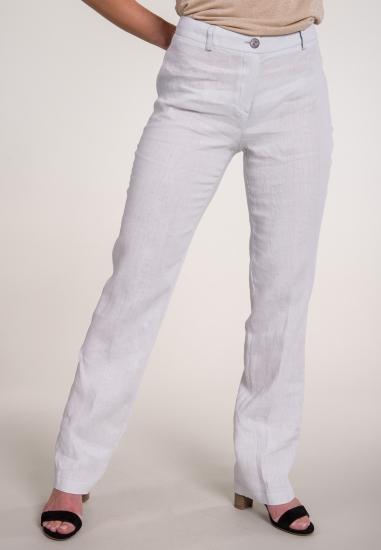 Lniane spodnie o prostym...