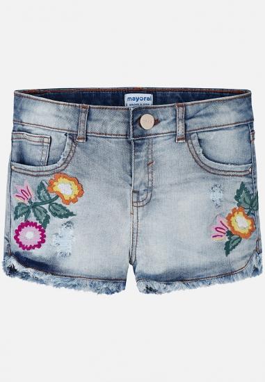Szorty jeansowe z aplikacją...