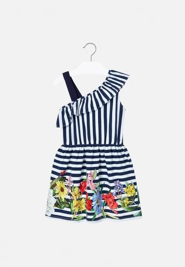 Sukienka z asymetrycznym dekoltem dziewczęca Mayoral