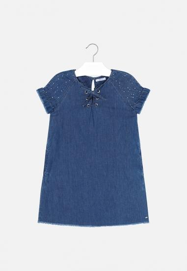 Sukienka jeansowa dziewczęca Mayoral