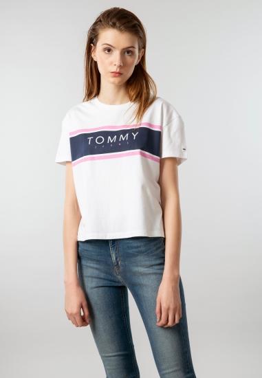 Koszulka o krótszym kroju z...