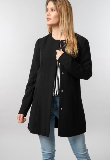 Płaszcz damski o prostym kroju Jacqueline De Yong