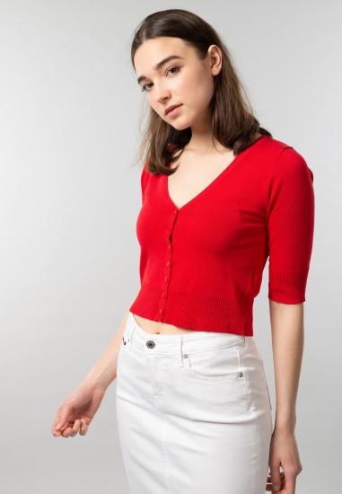 Rozpinany sweter Artigli o krótszym kroju