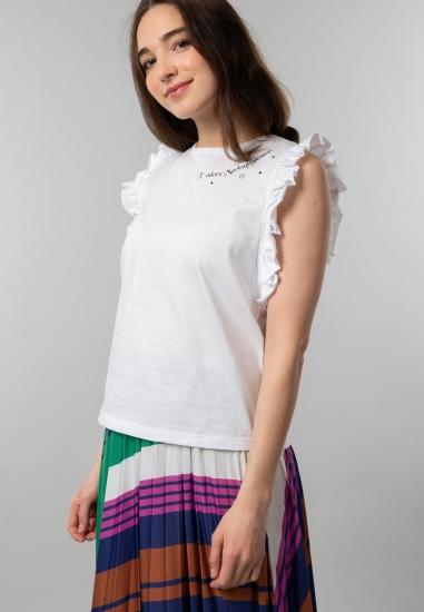 Koszulka damska z falbankowymi rękawkami Markup