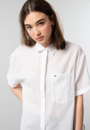 Damska koszula z bawełny Tommy Jeans