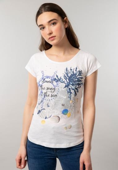 T-shirt z nadrukiem Yes Zee