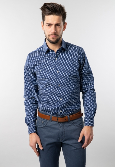 Wzorzysta koszula modern fit Pierre Cardin - 0079021 GRANAT