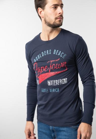 Męski t-shirt z nadrukiem Solid