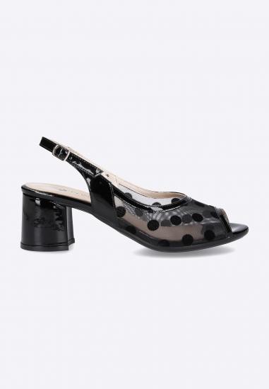 Sandały damskie ze zdobieniem w kropki