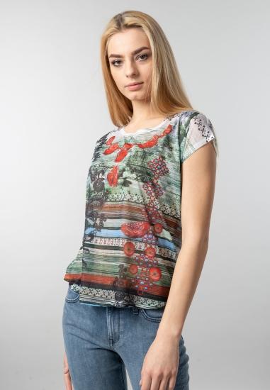 wzorzysty t-shirt Yes Zee -...