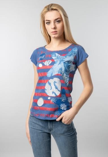 T-shirt damski z nadrukiem...