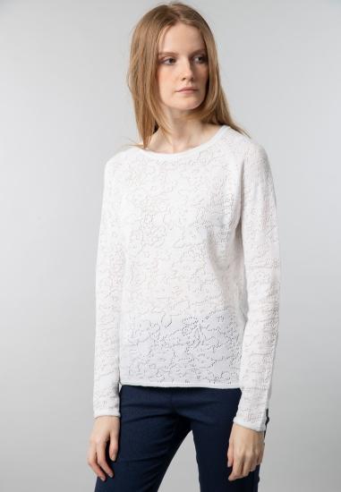 Sweter damski z ażurowej...