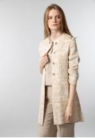 Płaszcz damski z wzorzystej dzianiny Maria Bellentani