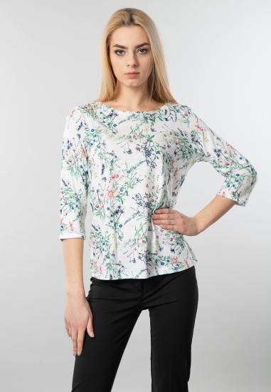 Wzorzysty t-shirt damski Cecil
