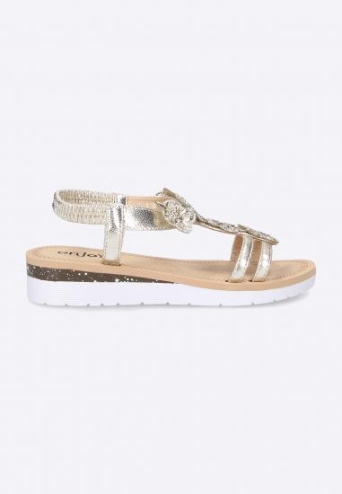 Sandały damskie ze zdobieniem Enjoy