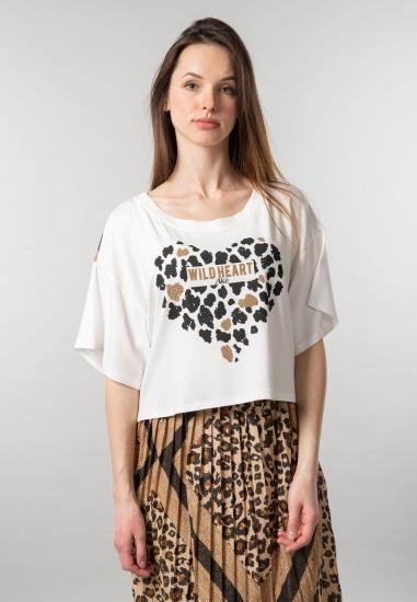 T-shirt damski z nadrukiem Ake