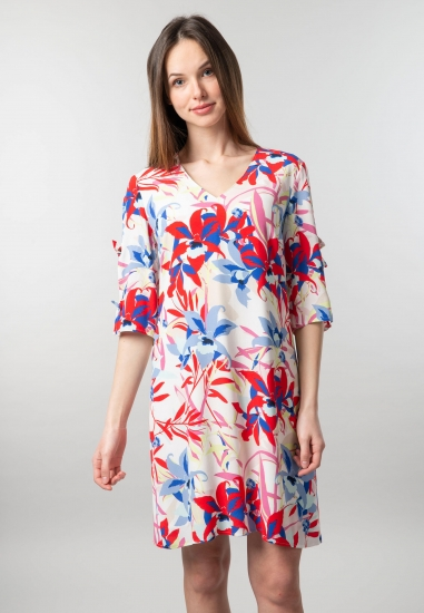 Wzorzysta sukienka Taifun -...
