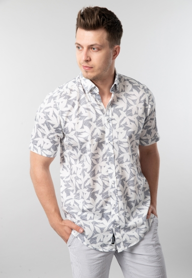 Wzorzysta koszula męska...
