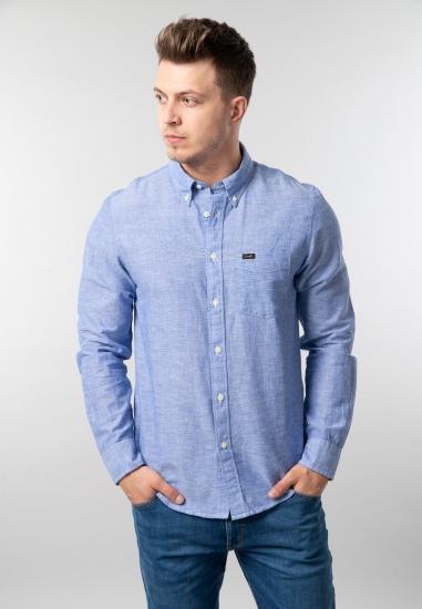 Męska koszula z mieszanki lnu i bawełny regular fit Lee