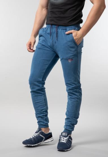 Męskie spodnie dresowe imitujące jeans Be Board