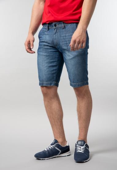 Męskie bermudy jeansowe slim fit Yes Zee