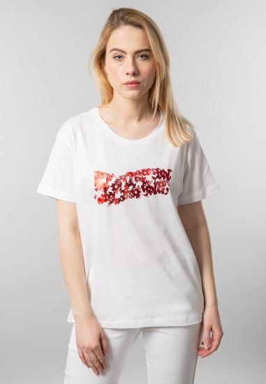 T-shirt damski z nadrukiem Gas
